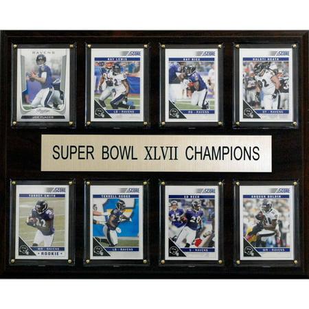 C&I Collectables NFL 12x15 Baltimore Ravens Super Bowl XLVII 8-Card Plaque ()