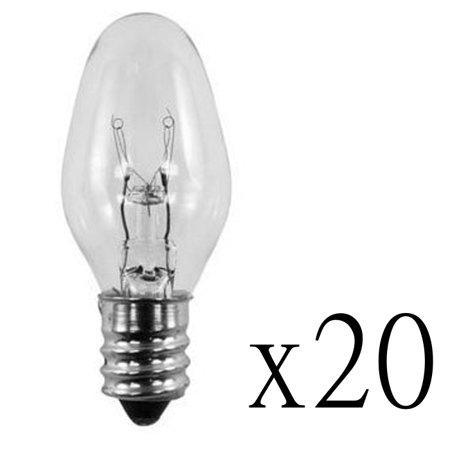 120 Volt Landscape Accent Light - 20 Pack Light Bulbs 15W for Scentsy Plug-In Warmer Wax Diffuser 15 Watt 120 Volt