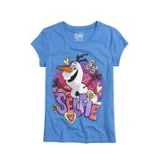 Justice Girls Disney Olaf Graphic T-Shirt