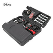 Best Choice 136pcs Mixed Tool Set with case Auto Home Repair Kit Mechanics All Purpose Hand Tools Kit