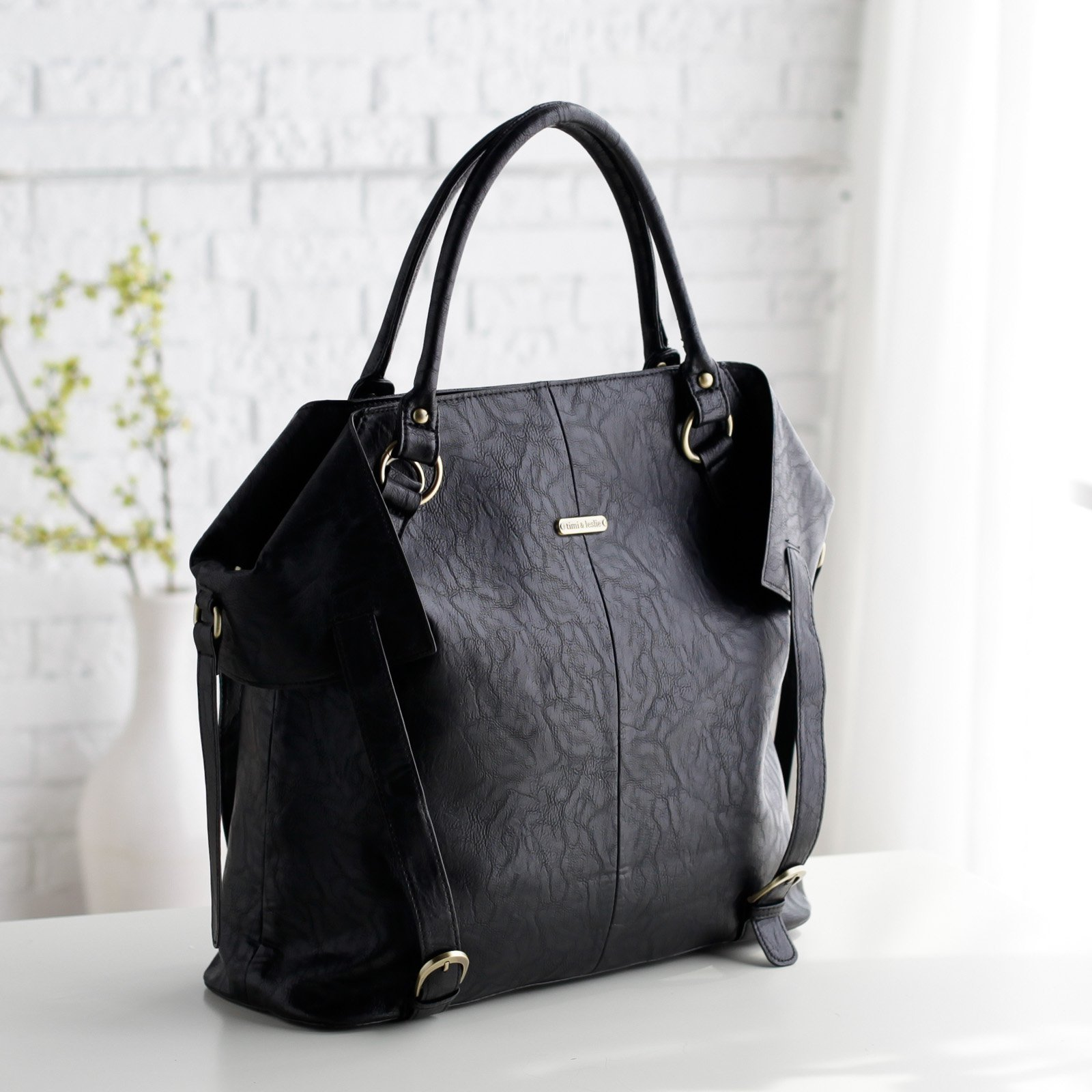 Timi And Leslie Charlie Tote Diaper Bag Black Fossil Lucy