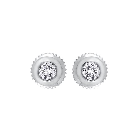 059890320 KATARINA - Bezel Set Diamond Stud Earrings in Sterling Silver (1/5 cttw, G-H,  I2-I3) - Walmart.com