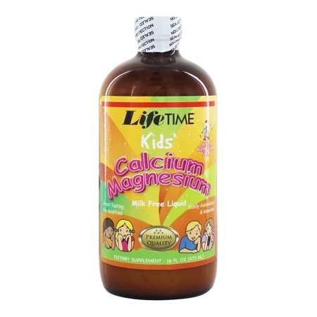 LifeTime Vitamins - Kids' Liquid Calcium Magnesium Natural Bubble Gum Flavor - 16 oz. (Bubble Gum Vitamins)