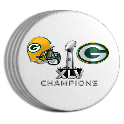 The Memory Company 2011 NFL Super Bowl Championship 4-pack Coaster Set