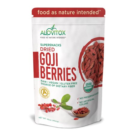 Goji Berries - The Best, Natural Dried Whole Raw Fruit Berry - High in iron, Wolfberry - Paleo, Vegan, Protein Snack and Superfood - Organic 16oz by