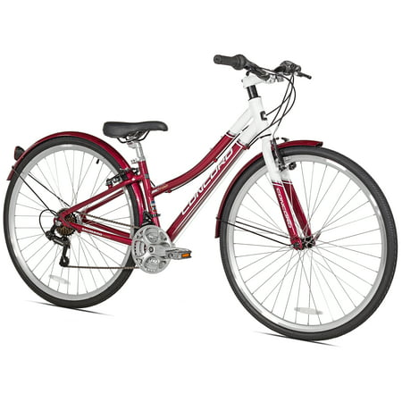 Concord 700c SC700 Hybird Women's Bike, Red/White, For Height Sizes 5'4