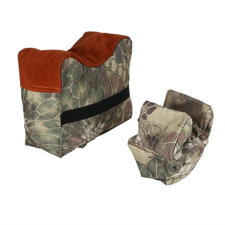 Yosoo Unfilled Front & Rear Shooters Gun Rest Sand Bags Shooting Bench Steady Sandbag , Shooting Bench Sandbag,Shooting Sandbag(Brown)