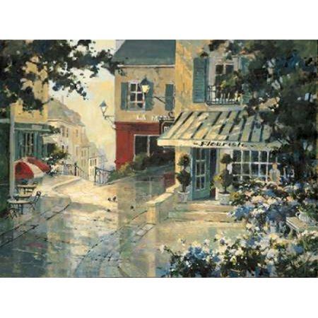 Village Florist Canvas Art - Marilyn Simandle (22 x 28) (Village Florist)