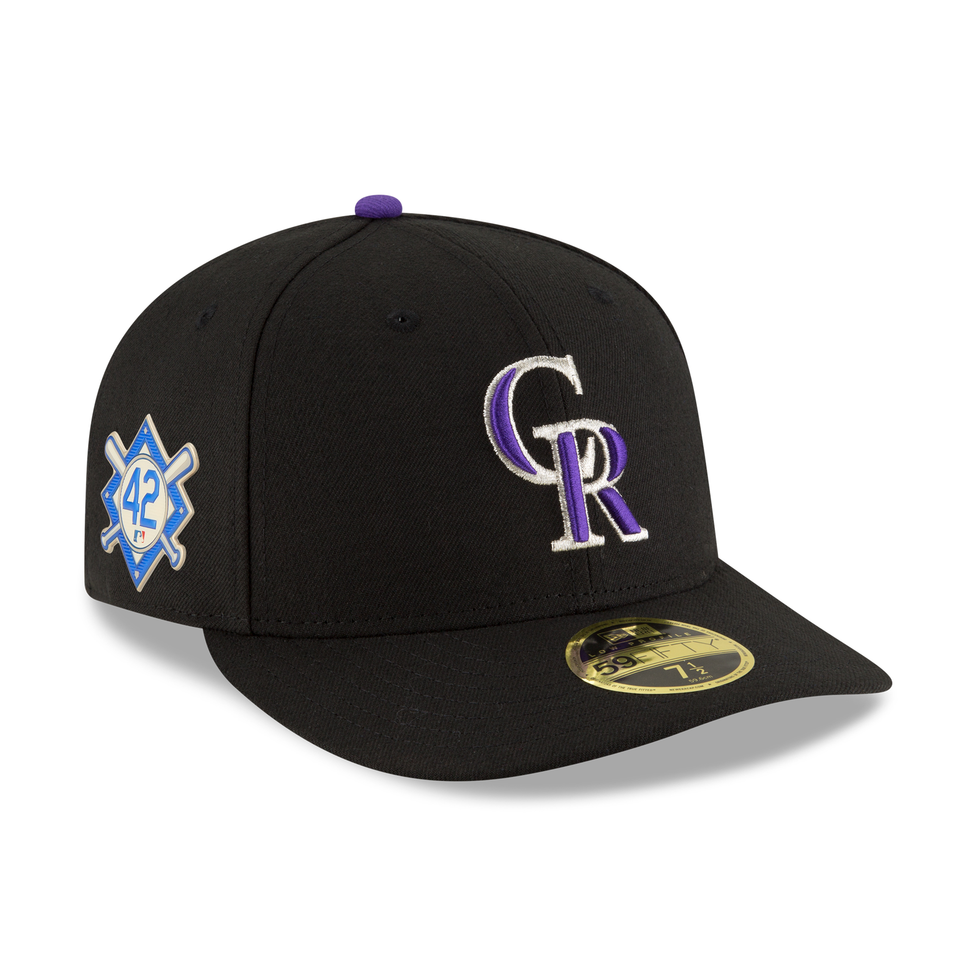 Colorado Rockies New Era Jackie Robinson Day Low Profile 59FIFTY Fitted Hat - Black