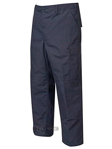 BDU Trousers Navy 100% Cotton Rip-Stop, XSmall Short