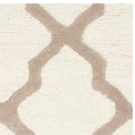 """Safavieh Cambridge 2'6"""" X 12' Hand Tufted Wool Rug in Ivory and Beige - image 2 of 3"""