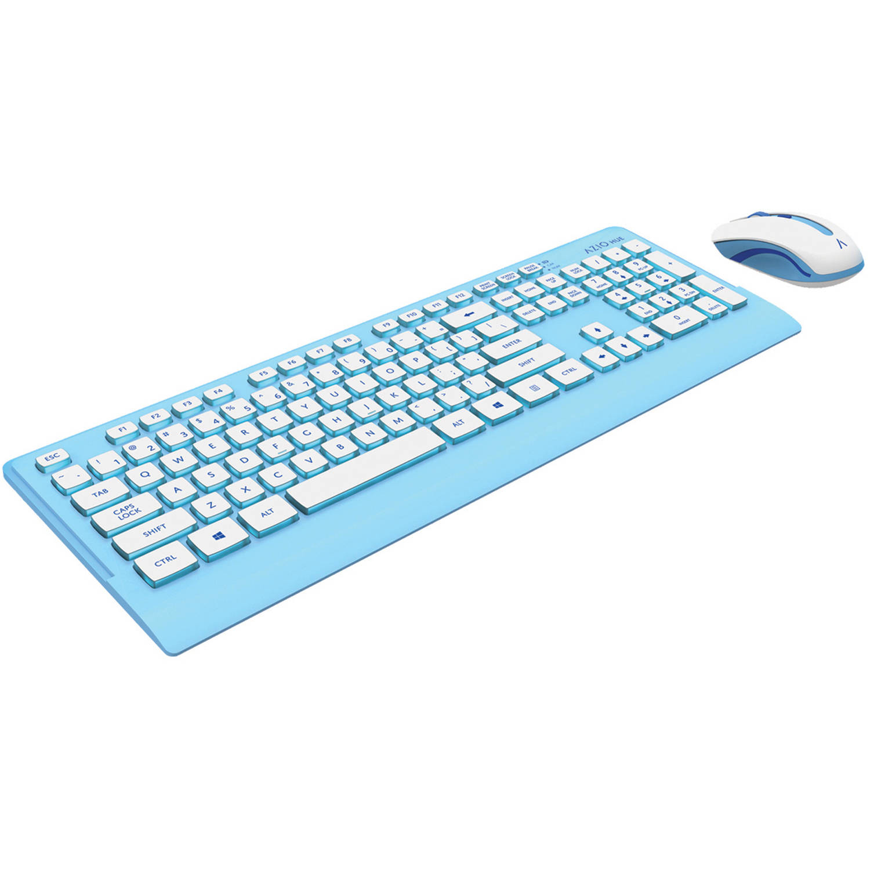 Azio Hue Wireless Keyboard And Mouse Km5 - Walmart.com