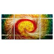 Metal Artscape The Phoenix 3 Piece Graphic Art Plaque Set