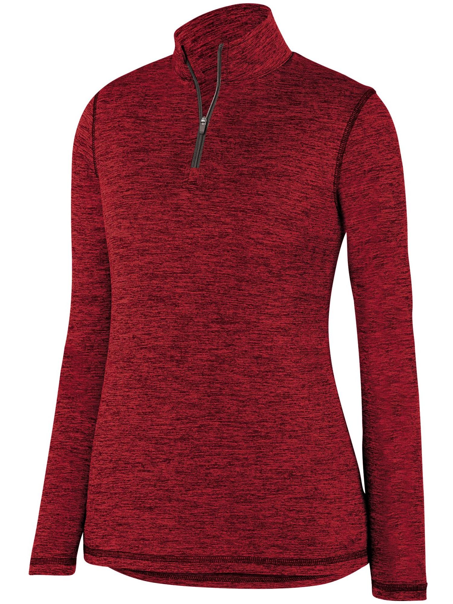 Augusta Sportswear Women's Intensify Black Heather 1/4 Zip Pullover 2957