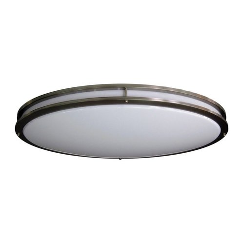 Amax Lighting LED-JR005NKL LED Ceiling Fixtures Oval Two Ring Flush Mount Ceiling Fixture by Generic
