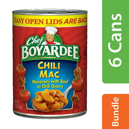 (6 Pack) Chef Boyardee Chili Mac, 15 oz (15 Min Meal)