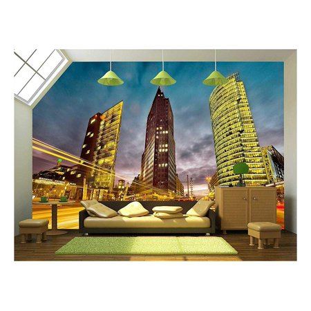 wall26 - Intersection in Front of the Potsdamer Platz in the City Center of Berlin, Germany - Removable Wall Mural | Self-adhesive Large Wallpaper - 66x96 (Mural Center)