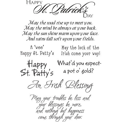 "My Sentiments Exactly Clear Stamps, 4"" x 6"" Sheet, St. Patrick's Day"