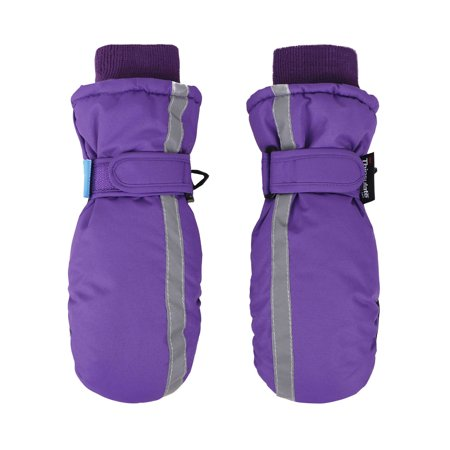 SimpliKids Children Winter 3M Thinsulate Waterproof Ski Mittens Gloves,L,Purple