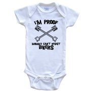 I'm Proof Mommy Can't Resist Bikers Funny Motorcycle Baby Onesie