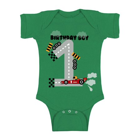 b4b7911a Awkward Styles Birthday Boy Race Car Baby Bodysuit Short Sleeve 1st Birthday  Party for Baby Boy Birthday Gifts for 1 Year Old Boy Race Car Party Funny  ...
