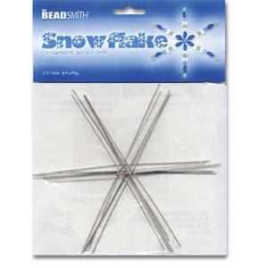 Metal Wire Snowflake Forms - Fun Craft Beading Project 6 Inches