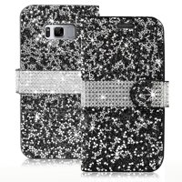 Samsung Galaxy S8 Diamond Leather Wallet Case Cover