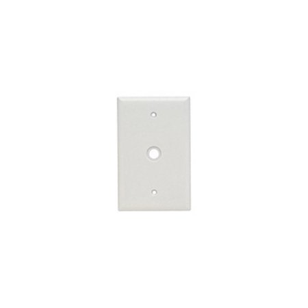 P&S SPJ11W White Plastic Junior-Jumbo Telephone/Cable Outlet Wallplate (11w Dimmer)
