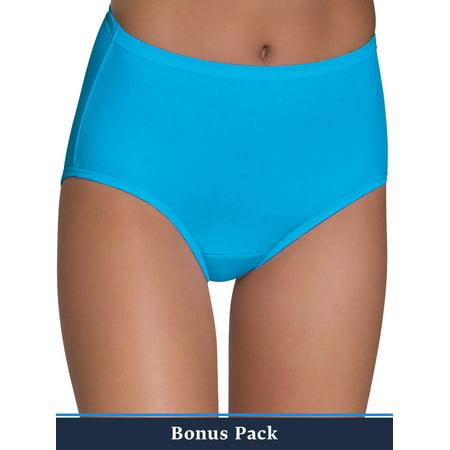 Fruit of the Loom Women's 6+3 Bonus Pack Assorted Cotton Brief Panties ()