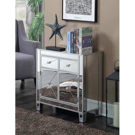 Convenience Concepts Gold Coast Vineyard 2 Drawer Mirrored Cabinet ()