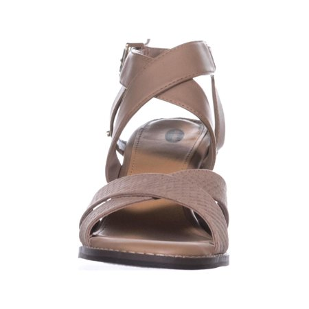 Dr. Scholl's Precise Strappy Heeled Sandals, Putty - image 1 de 6