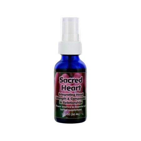 Flower Essence Sacred Heart Herbal Supplement Dropper   1 Oz
