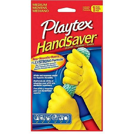 Playtex HandSaver Gloves, Medium 1 Pair (Pack of (Best Dish Washing Gloves)