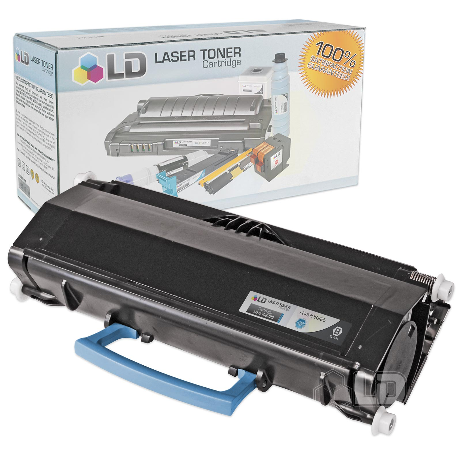 LD Refurbished 14K Page Black Toner Cartridge (GD907) for Dell 3333dn 3335dn Laser Printers