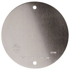 Weatherproof Round Blank Cover 4 In  Gray