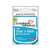 "3L Scrapbk Adh Click""N Stick Mounting Sq 1000pc Wh"