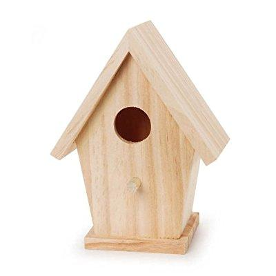 Darice Natural Wood Birdhouse 5.75 Inches