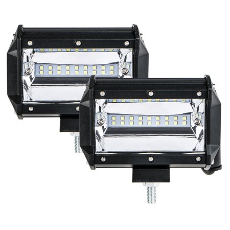 2-pack Spot LED Work Light Bar Fog Driving Light, 5inch 180W Two Row LED Chips Off Road Car Light Fog Light for Jeeps 4x4s Trucks Motorcycles SUVs ATVs Cars Boats 4 X 4 Off Road Driving