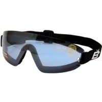 Birdz Eyewear Wing Skydive Skydiving Sports Padded Goggles with Blue Lenses Anti-fog Coated One Piece Lens