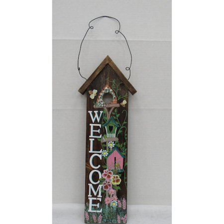 Hand Painted Wood Base - Hand Painted Wood Welcome Accent