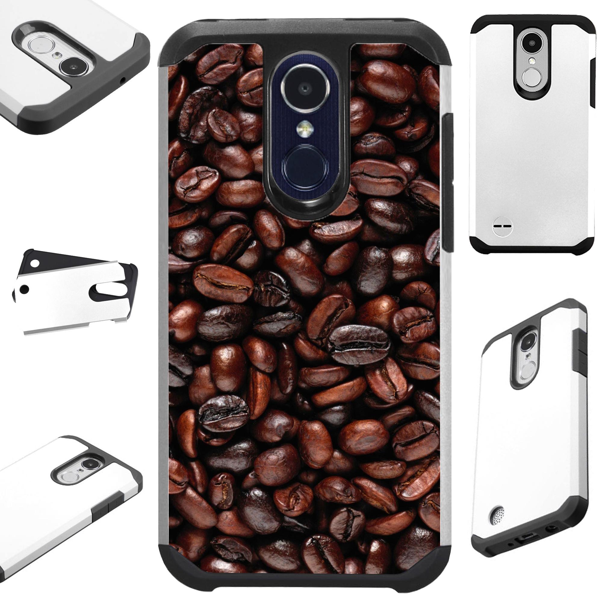 For LG Q7 (2018) | LG Q7 Plus (2018) Case Hybrid TPU Fusion Phone Cover (Roasted Coffee)