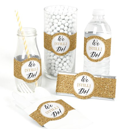 We Still Do - 50th Wedding Anniversary - DIY Party Wrapper Favors - Set of 15 (Decorating For 50th Wedding Anniversary)