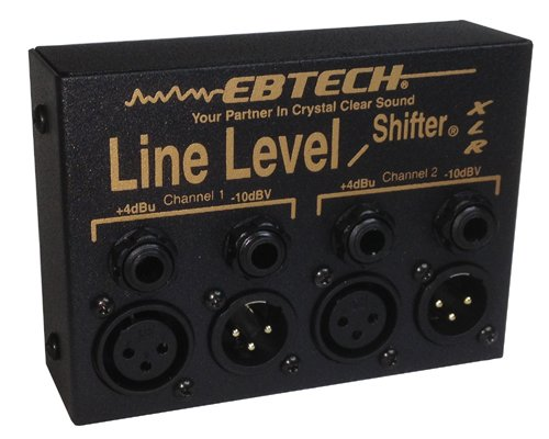 Ebtech Line Level Shifter× 2 Ch Box W Xlr by Morley