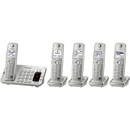 Panasonic KX-TGE275S Link2Cell Bluetooth Cellular Convergence Solution with 5 Handsets by