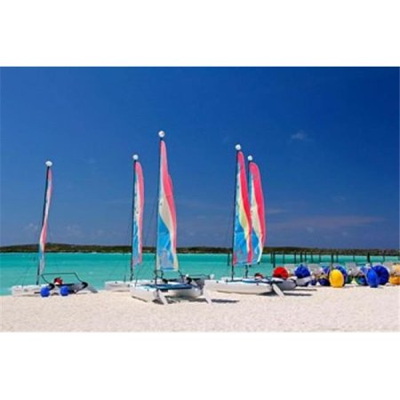 Posterazzi PDDCA05KWI0004 Sailing Rentals Beach Castaway Cay Bahamas Caribbean Poster Print by Kymri Wilt - 35 x 24 in. - Halloween Rentals
