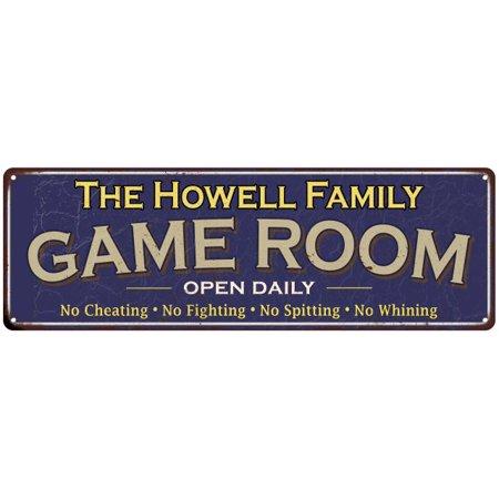 The Oliver Family Game Room Blue Vintage Look Metal 6x18 Sign Wall Decor (Vintage Oliver Sign)