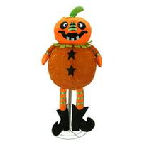 Northlight Seasonal LED Standing Jack-O-Lantern Pumpkin Halloween Decoration
