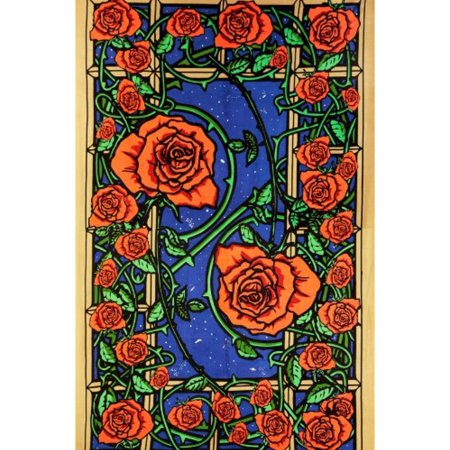 Sunshine Joy 3D Rose Window Tapestry Wall Hanging Table Cloth Magical Dorm Decor - Huge 60x90 Inches