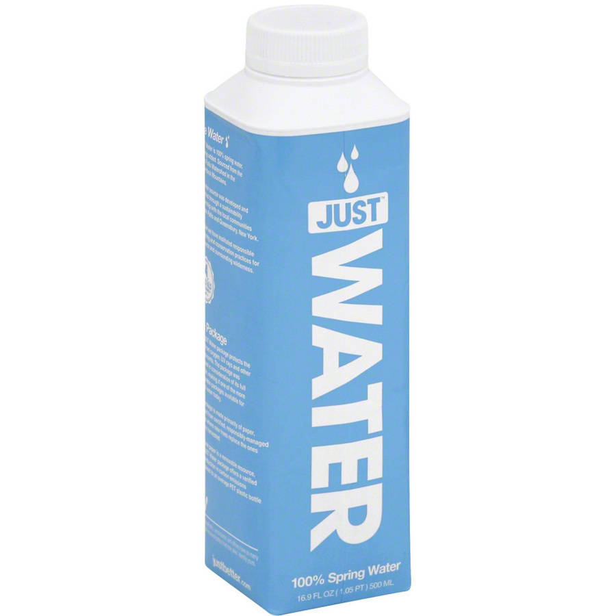 Just Water Spring Water, 500mL, (Pack of 12) by