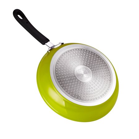 """Cook N Home 8"""" and 10"""" Nonstick Fry Pan Saute Skillet Set, Green"""